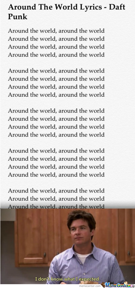 Just Around The World Lyrics