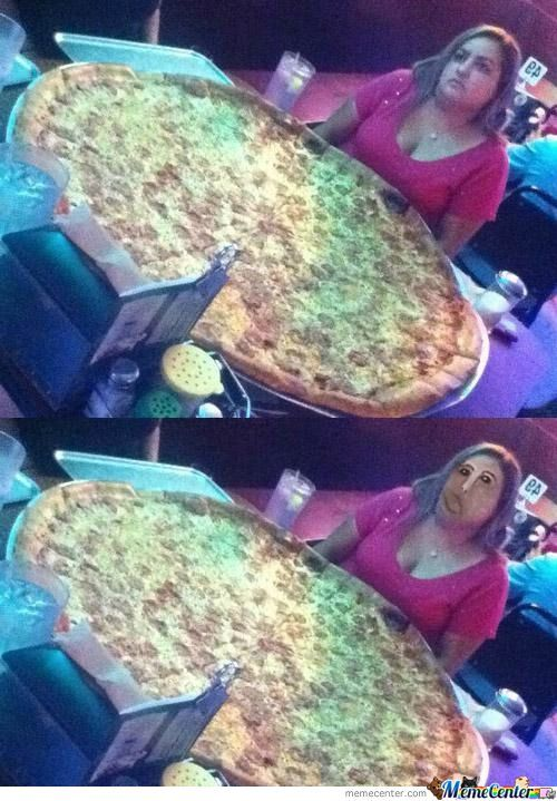 Just Don't Look The Pizza...