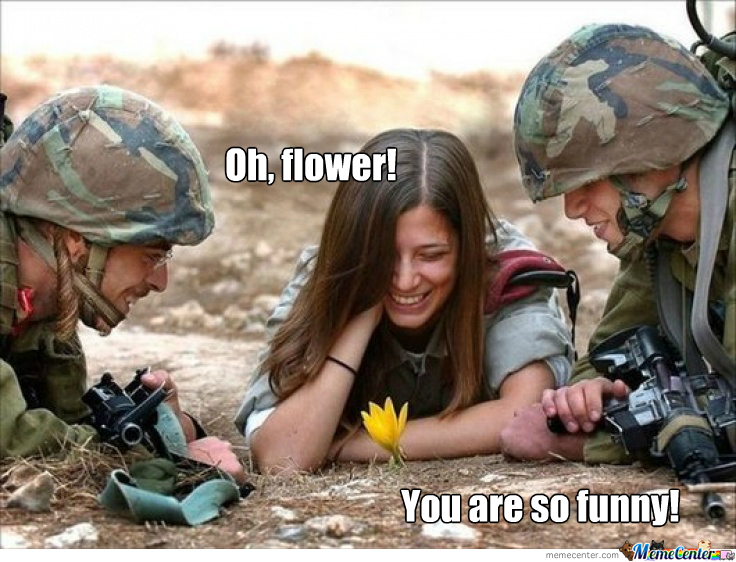 Funny Meme For Girl : Just funny flower girl and soldiers by timon.moor.7 meme center