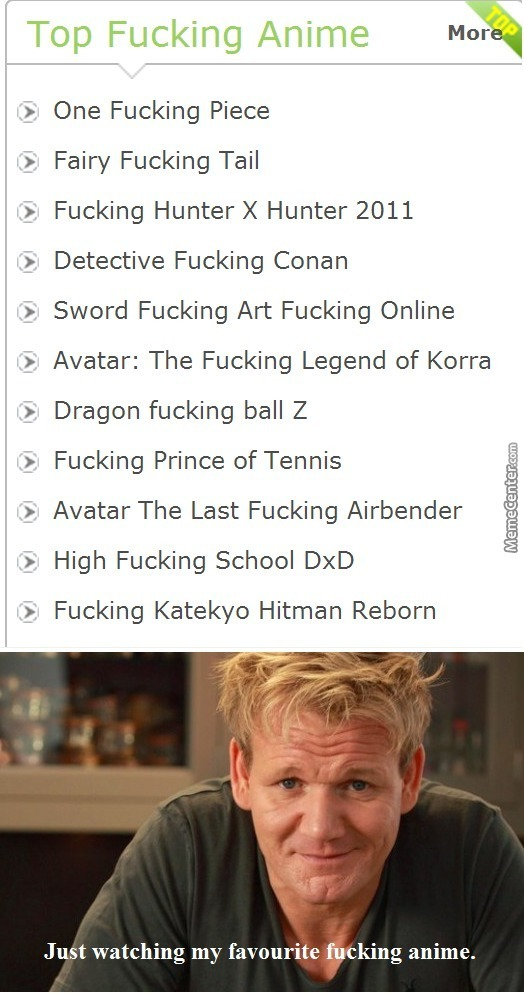 Just Gordon's F%cking Anime