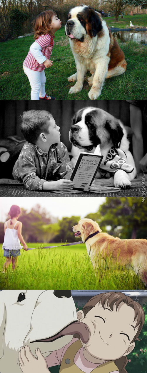 Just Kids And Their Dogs,to Brighten Your Day :3