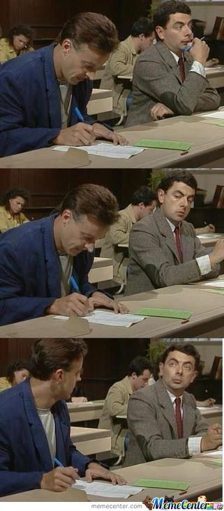 Just Me During The Exam.........