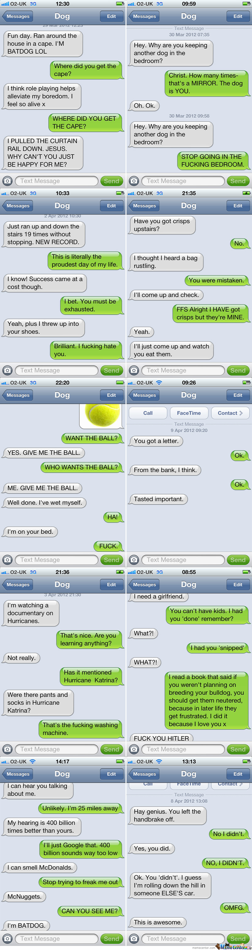 Just My Dog Texting Me.
