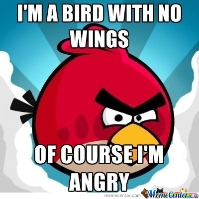 Just One Angry Bird.
