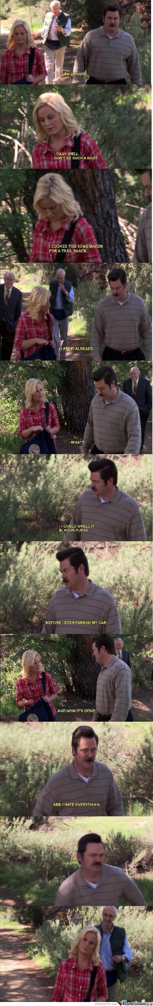 Just Ron Swanson Being Ron Swanson