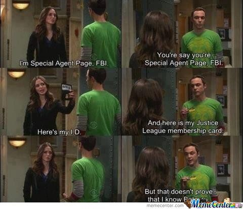 Just Sheldon Being Awesome.