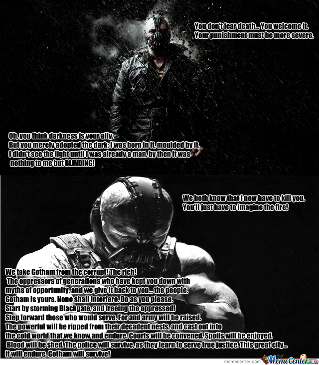 Bane Quotes Just Some Bane Quotes #1 (If You Want More Quotes From Some  Bane Quotes
