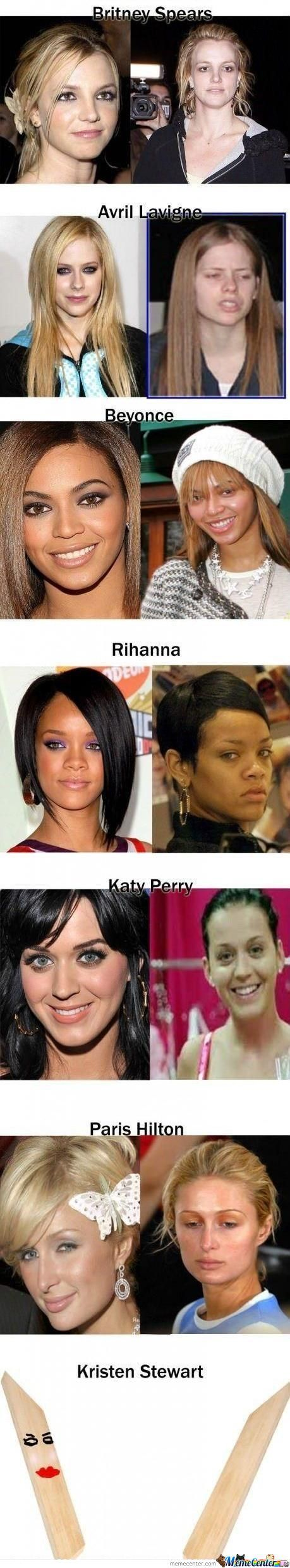 Just Some Celebritys Without Makeup ...
