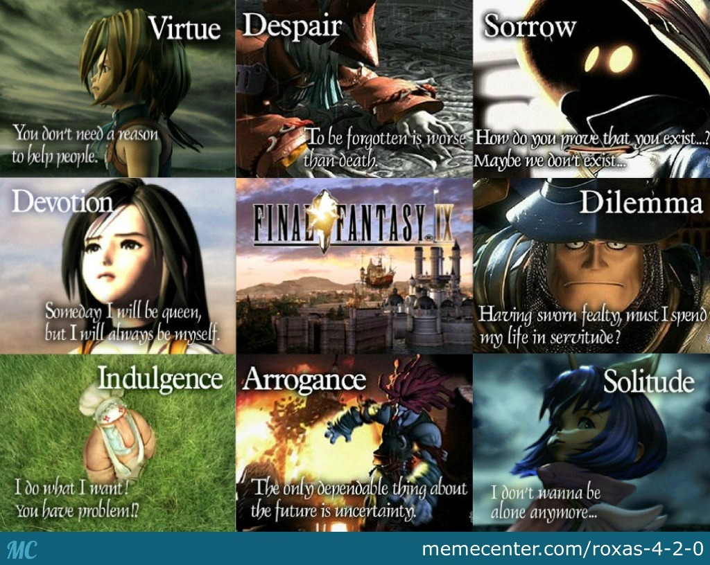 Just Some Deep Quotes From Final Fantasy Ix. by roxas-4-2-0 ...