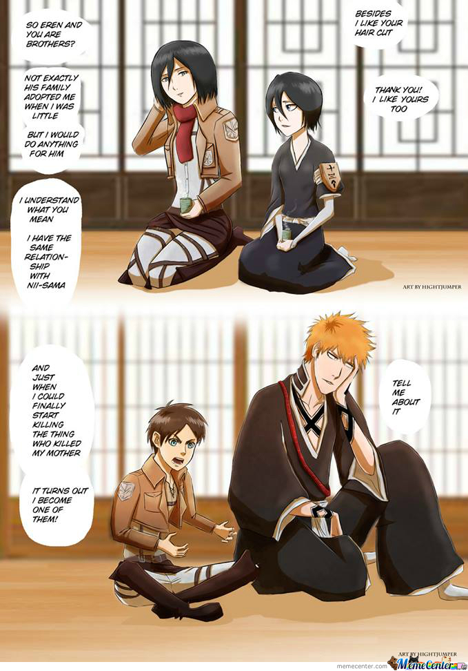 Just Something I Found On Fb (I Only Know The Bleach Charcters Dont Know Where The Two Others Are From)