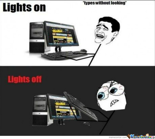 Just Typing With Lights On/off