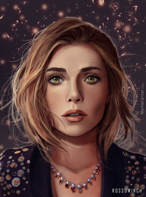 Just Wanted To Share My Latest Drawing. Portrait Study Of Elizabeth Olsen.
