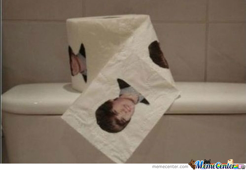 justin bieber toilet paper by voyager meme center justin bieber toilet paper