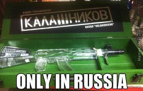 Kalashnikov Vodka Bottle