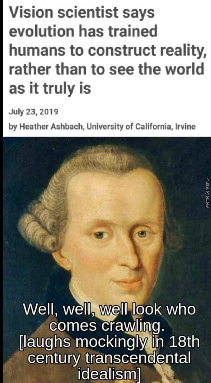 Kant Was Right All Along
