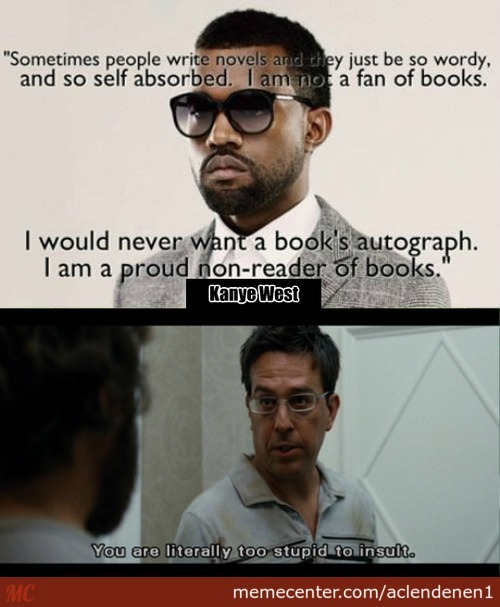Kanye's Opinion On Books
