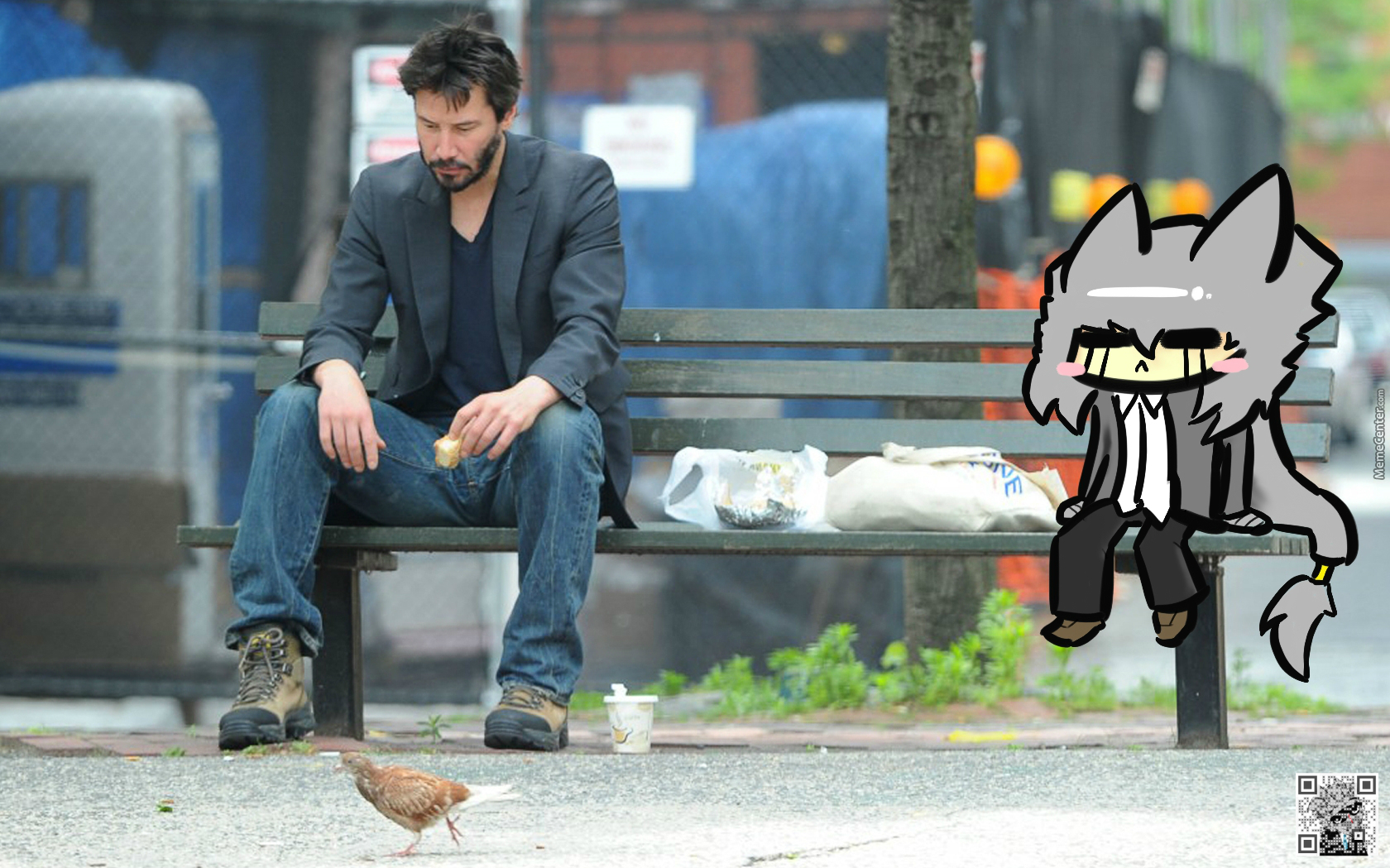 Keanu Reeves And Halo.t. Sad