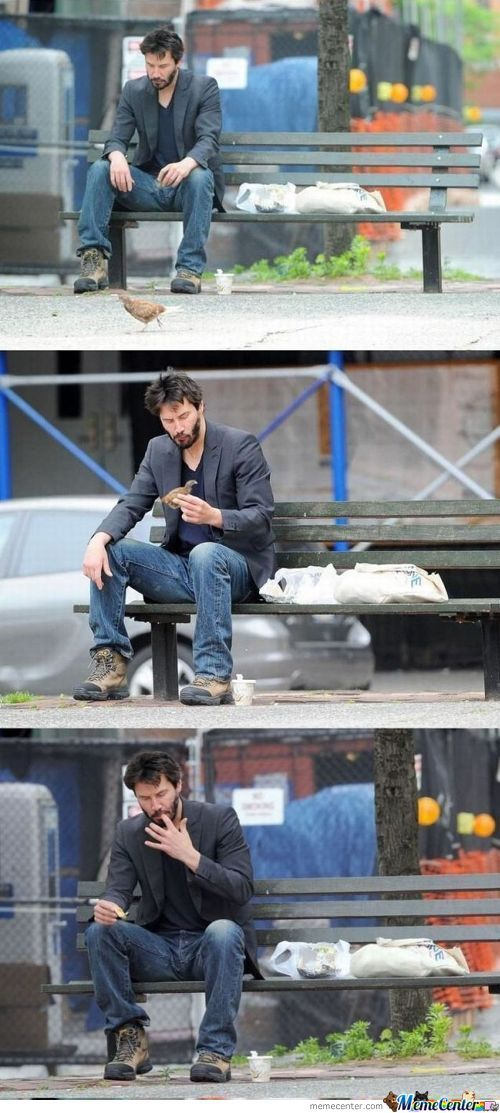 Keanu Reeves Ate Bird