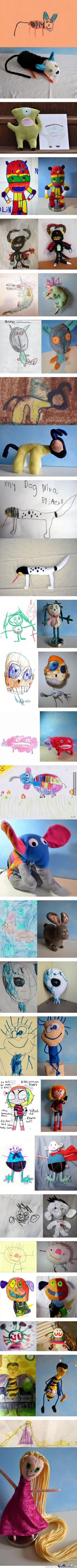 Kid's Drawing Into Real Doll