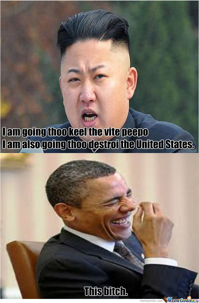 Kim Jong Un And President Barack Obama. by vendila.yang ...