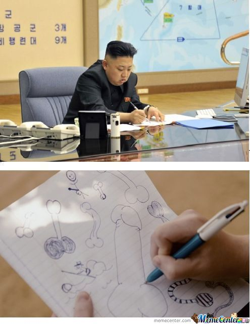 Kim-Jong-Un Finally Having Some Free Time To Draw
