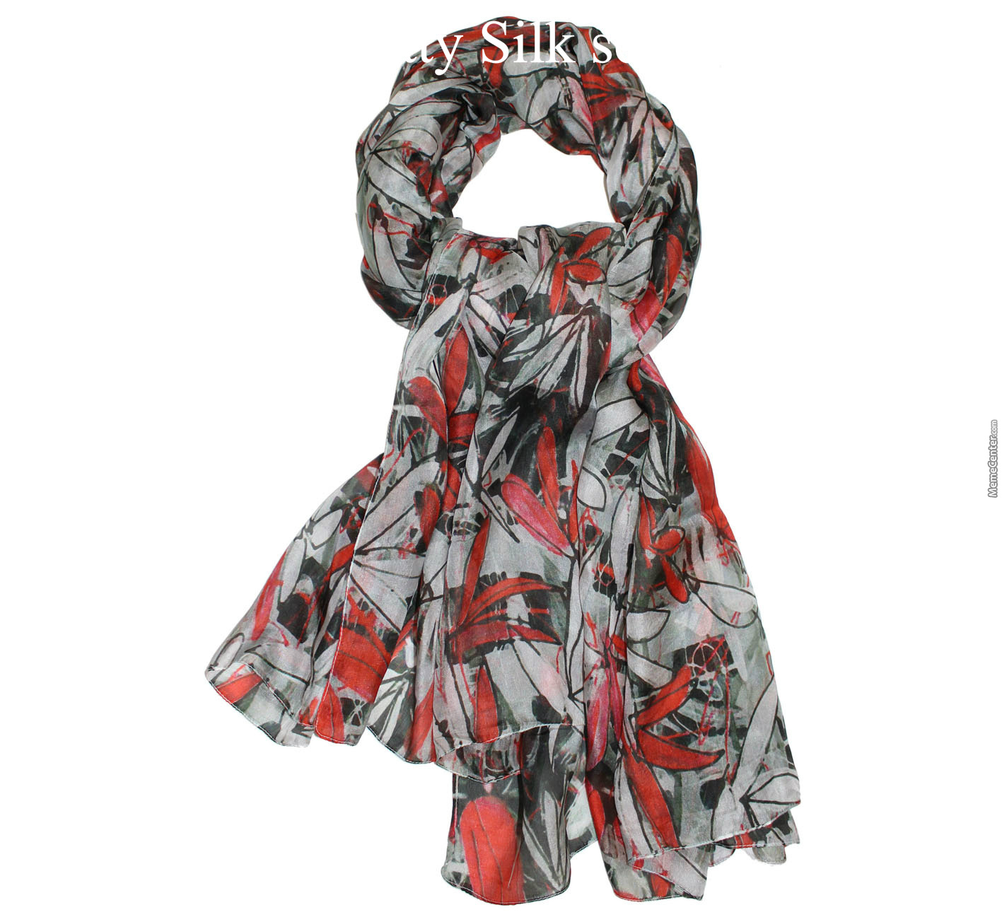 Knotty Silk Scarf By Dtexshop Meme Center