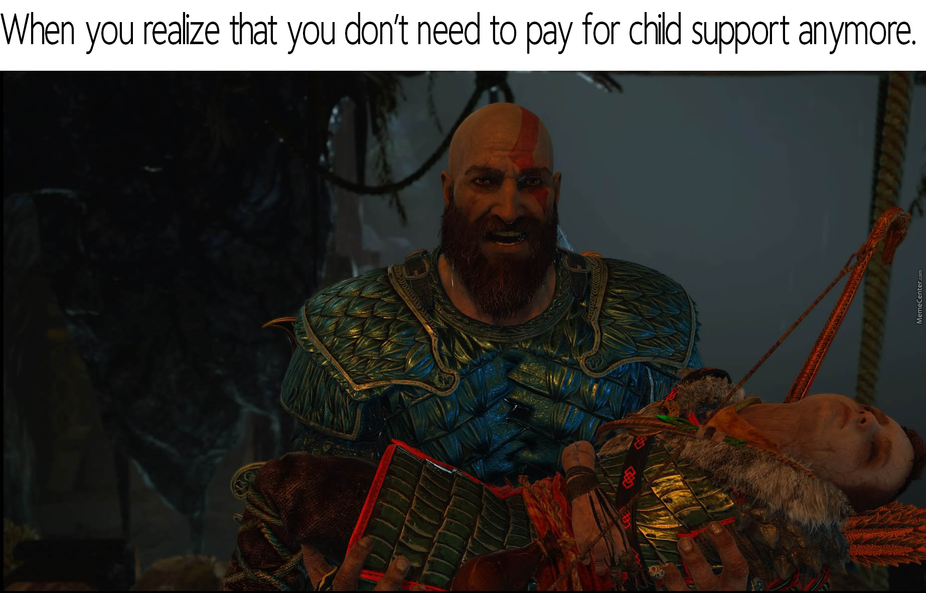 Kratos Can't Handle Kids And Wives