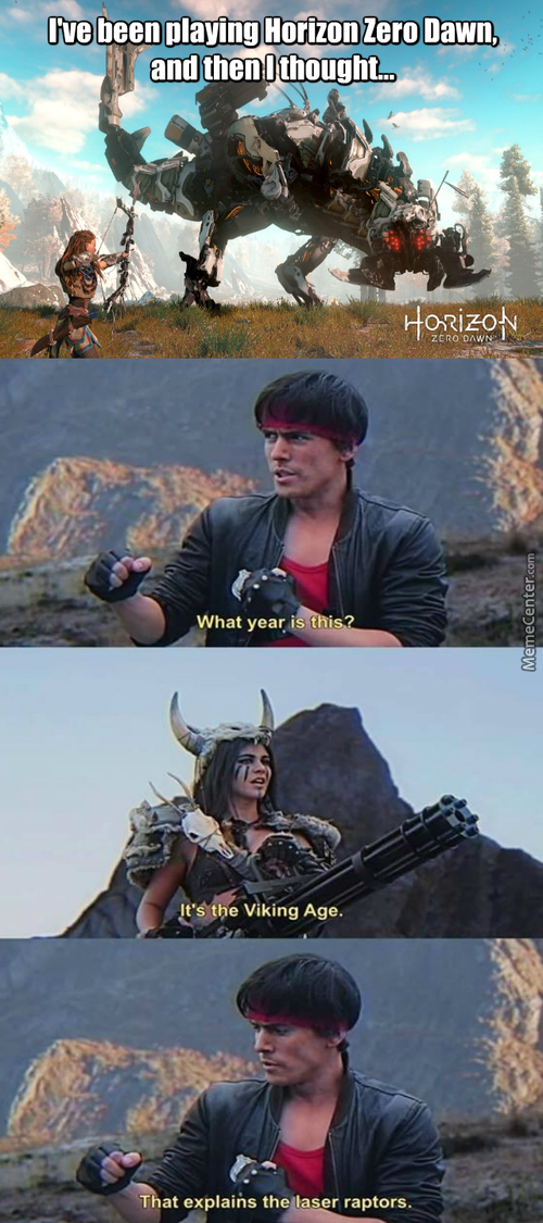 Kung Fury Vs Horizon Zero Dawn