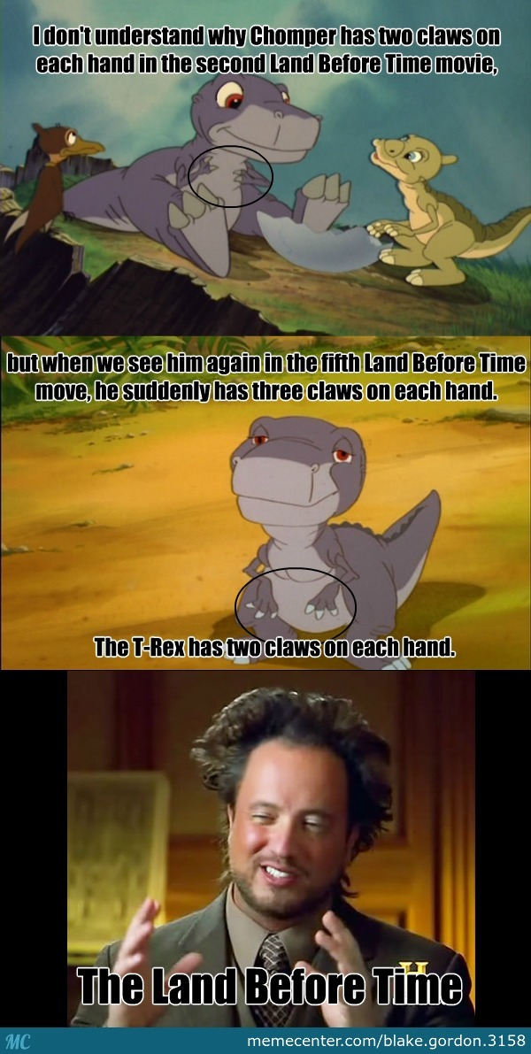 Land Before Time Logic And Chomper