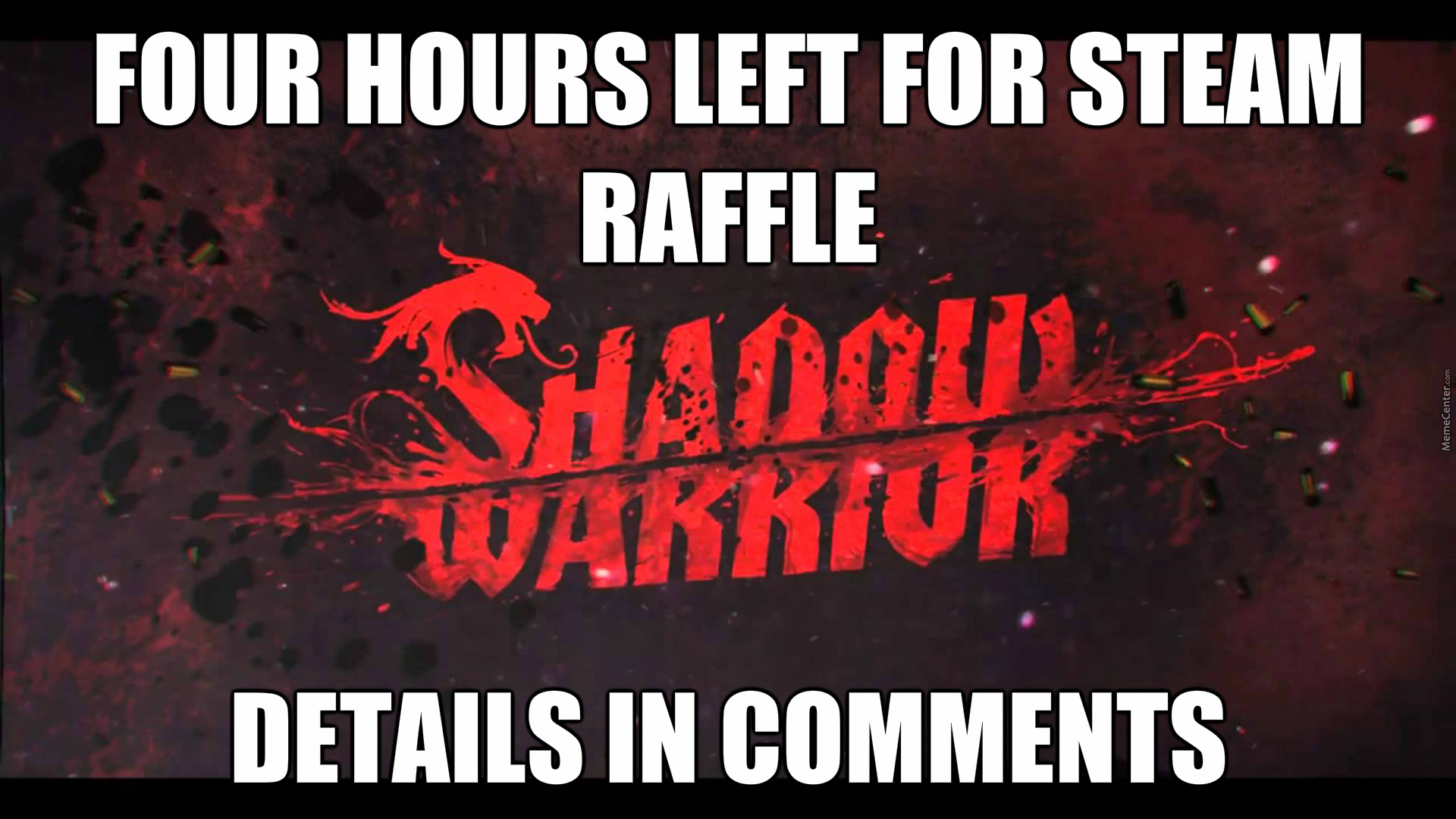 Last Chance To Enter Steam Game Giveaway Raffle! Link In
