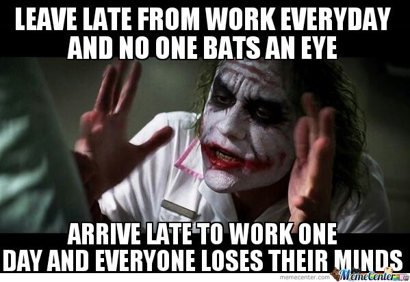 Being Late For Work Meme
