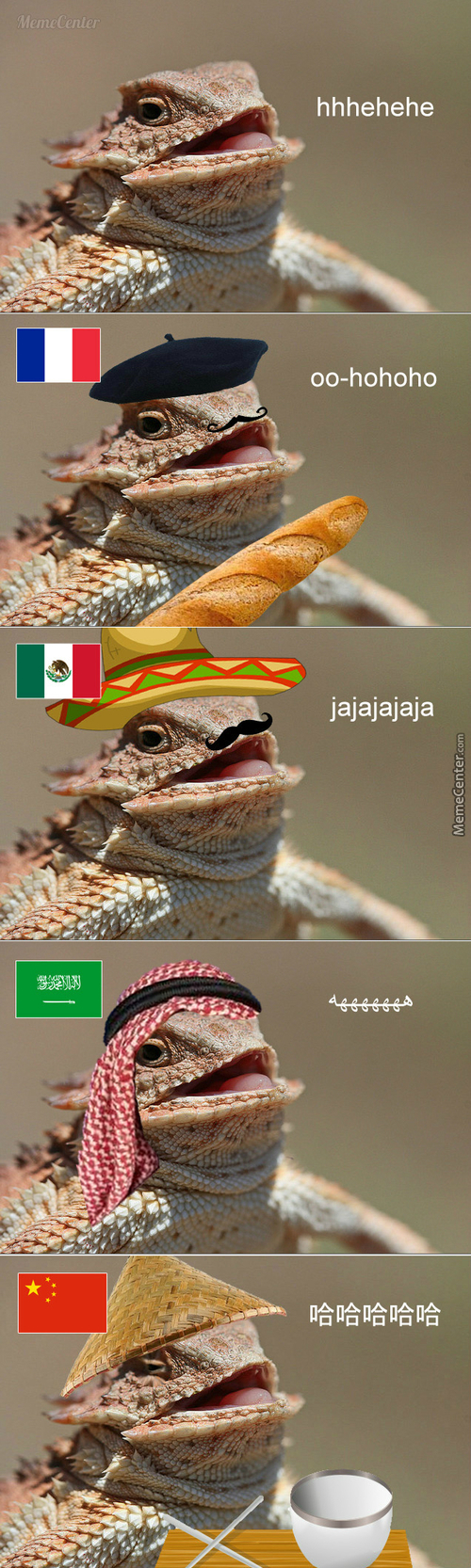 Laughing Lizard In Different Countries