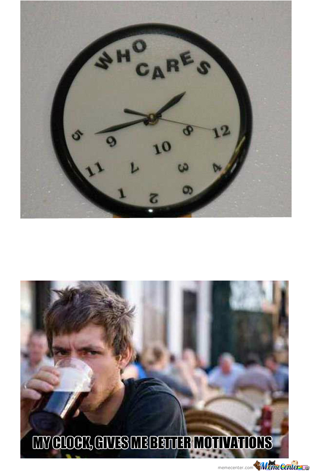 Lazy College Student's Clock