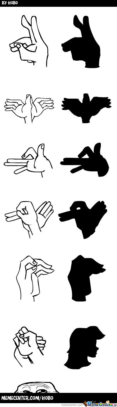 Le Awesome Hand Shadow Puppets