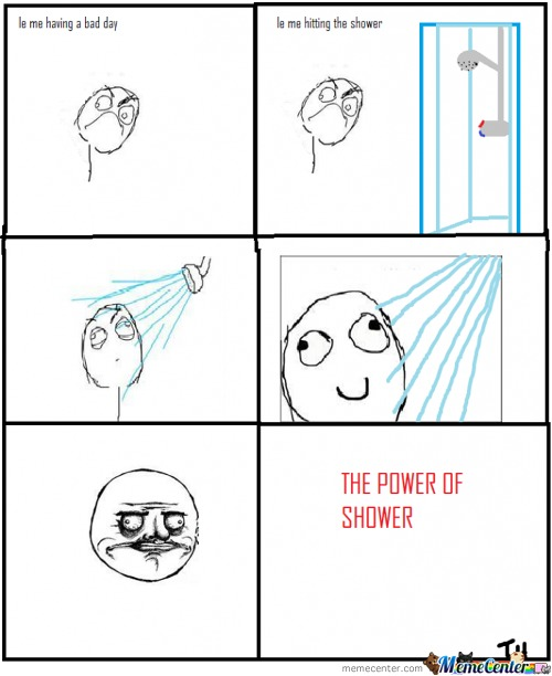 Le Me Hitting The Shower