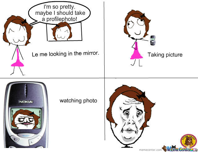 le me looking in the mirror_o_424020 le me looking in the mirror by peddobear meme center