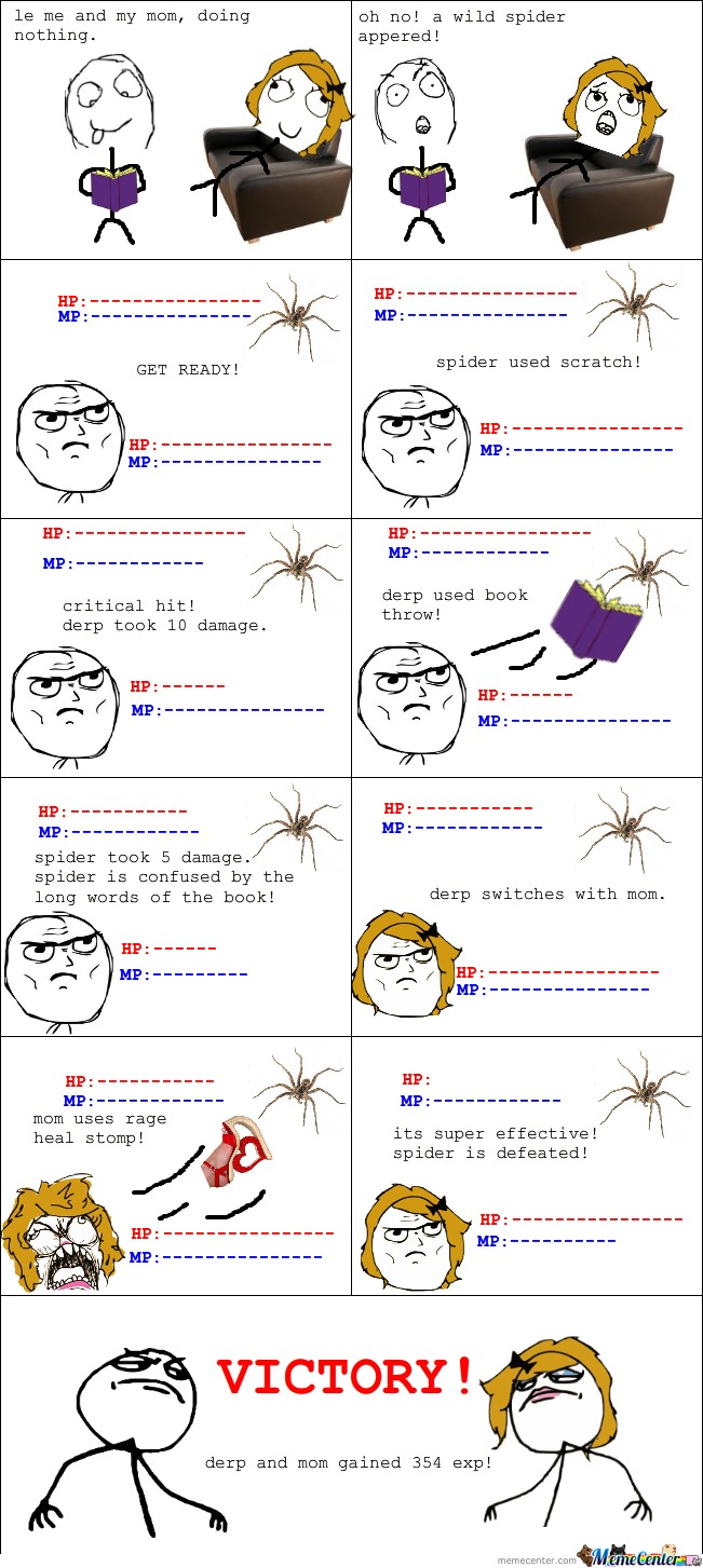 Le Wild Spider Appeared