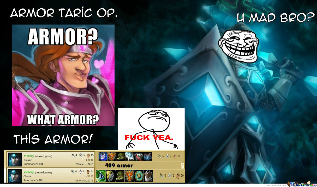 Funny Meme League Of Legends : League of legends armor taric by gustafsvensson meme center
