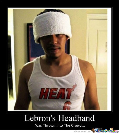 Lebron James' Headband