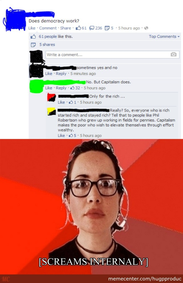 leftist comment insult in 3 2 1_o_2664471 leftist comment insult in 3 2 1 by recyclebin meme center