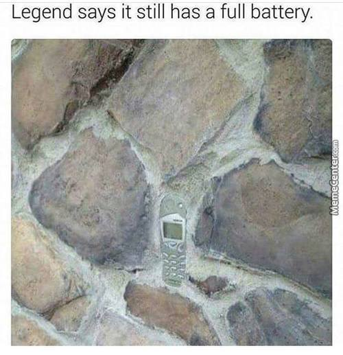"Legend Also Says That Only The ""chosen One"" Can Pull The Phone Out"