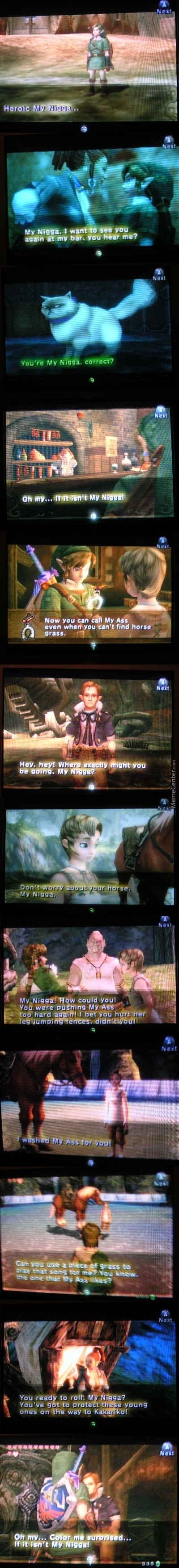 Legend Of Zelda: A Link To My Ass.