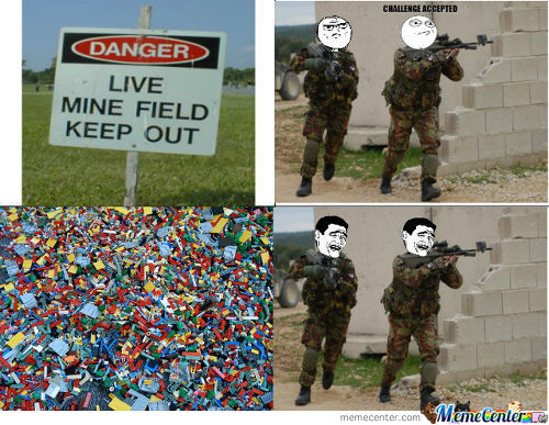 Lego Minefield Scares The Strongest People