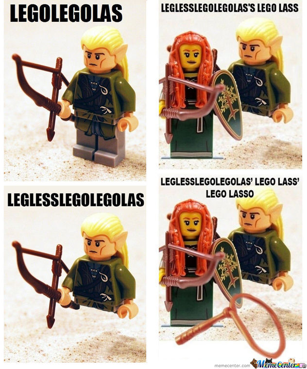 Image result for lego legolas meme