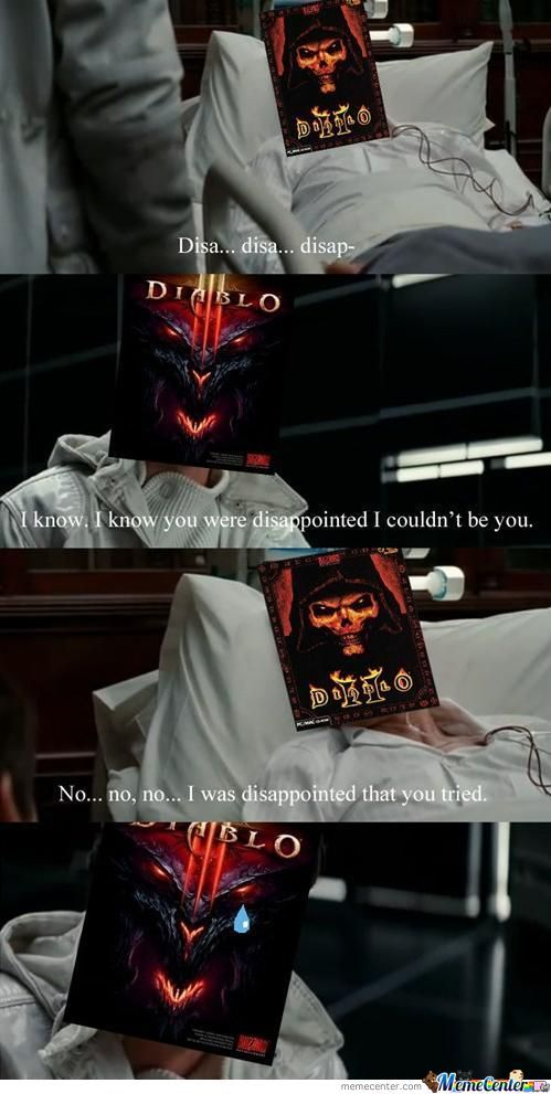 Lets Face It... Diablo III Was A Disapointment