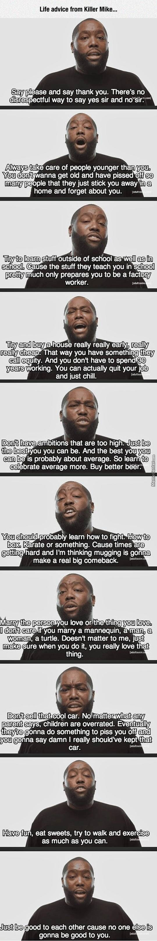Life Advice From Killer Mike