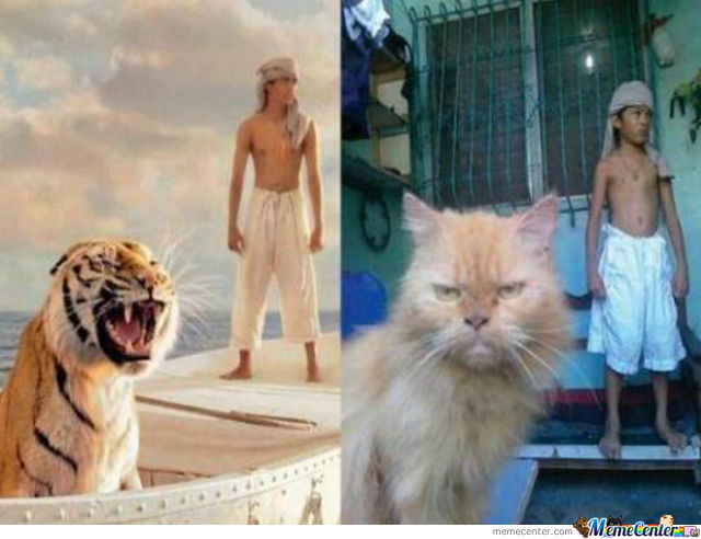 Life of pi by zaze meme center for Life of pi character development