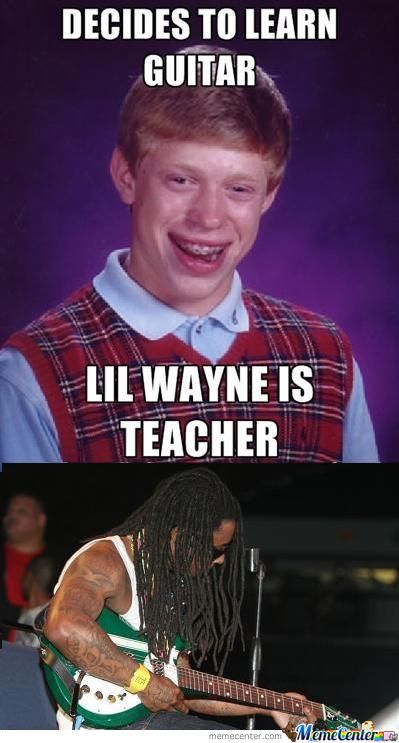 Lil Wayne Fails At Guitar