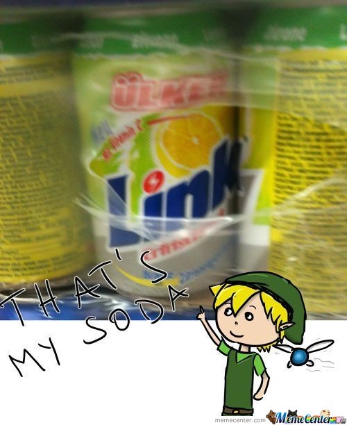 Link And His Soda!
