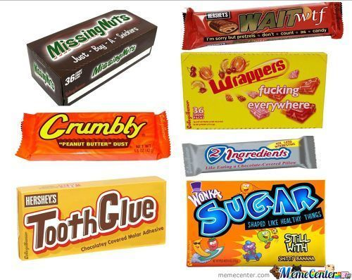 Literal Candy Bar Wrappers